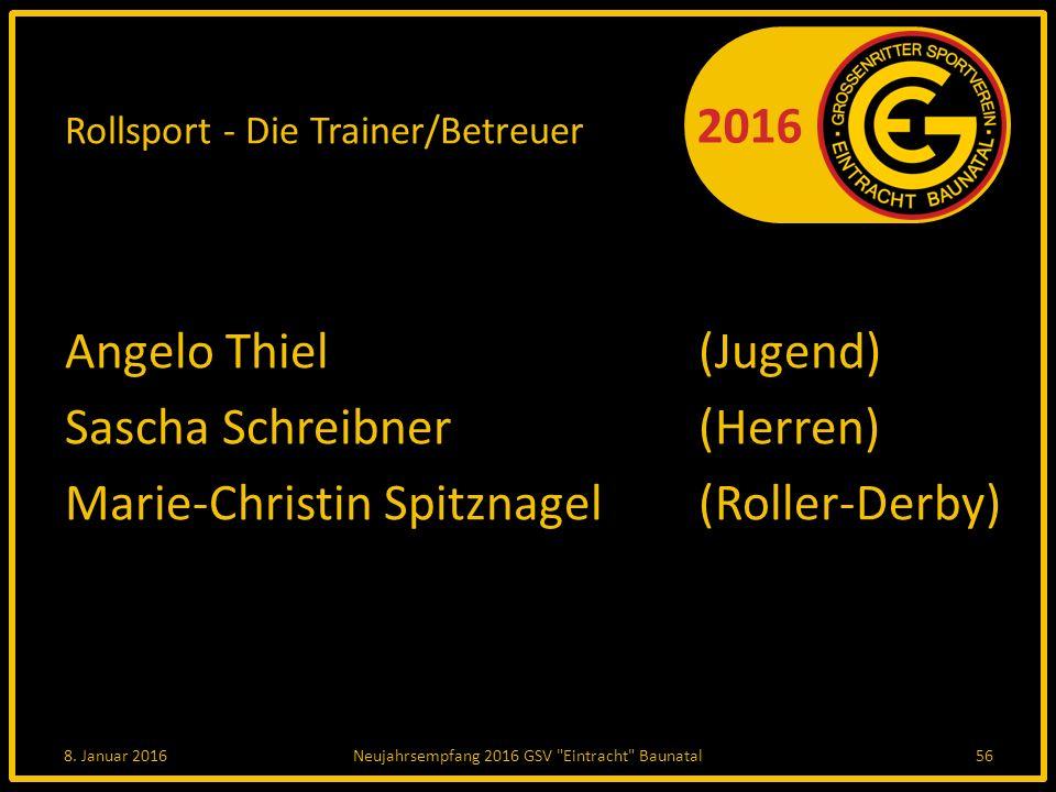 Rollsport - Die Trainer/Betreuer