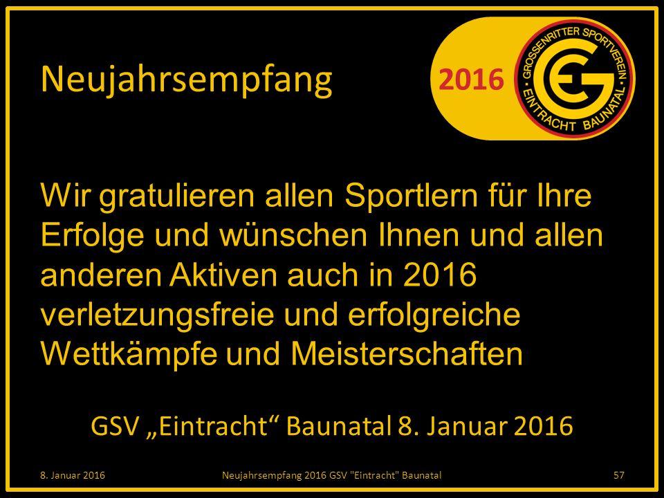 "GSV ""Eintracht Baunatal 8. Januar 2016"