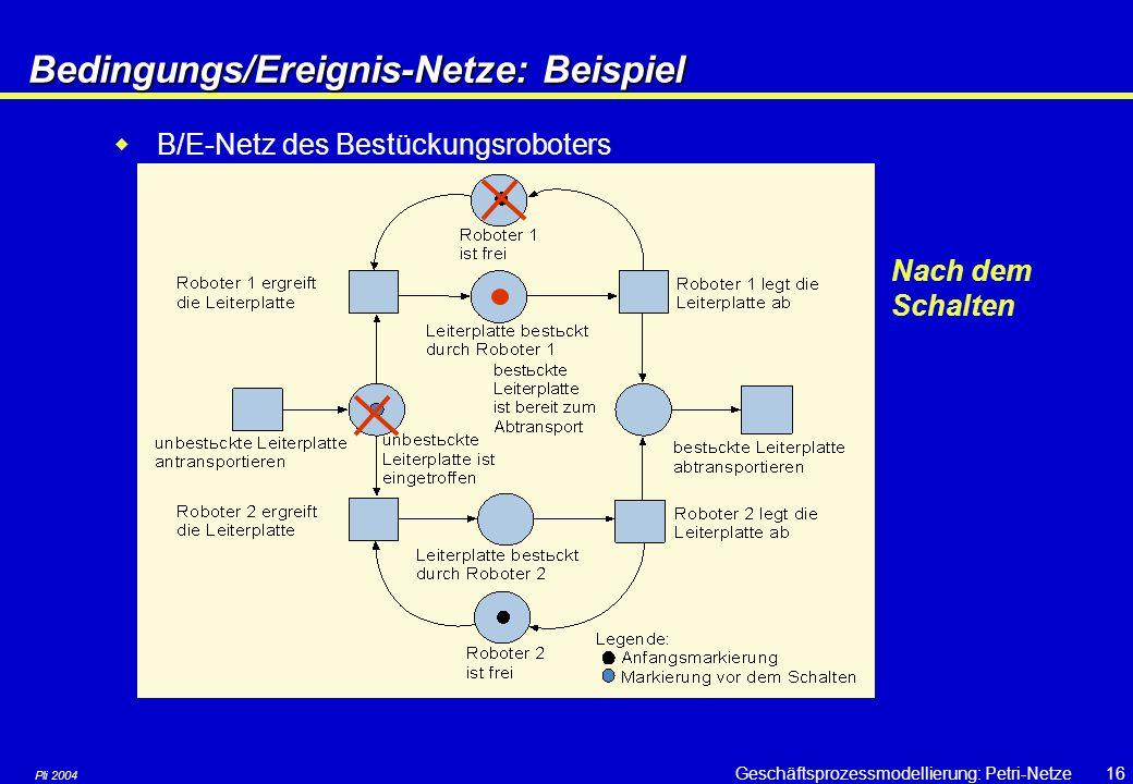 Bedingungs/Ereignis-Netze: Beispiel