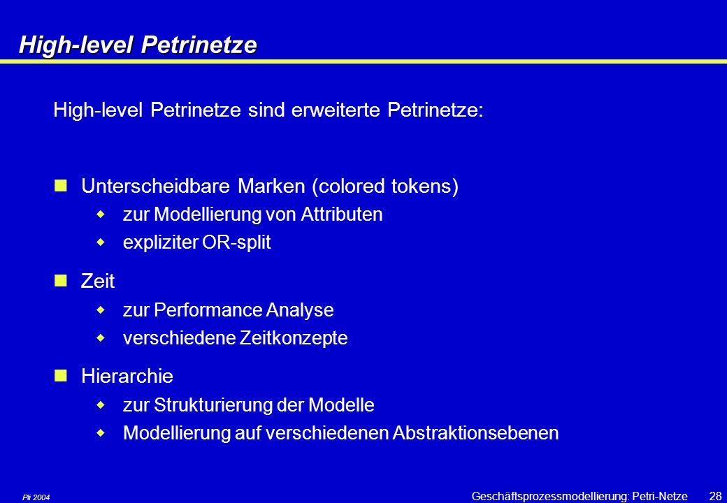 High-level Petrinetze