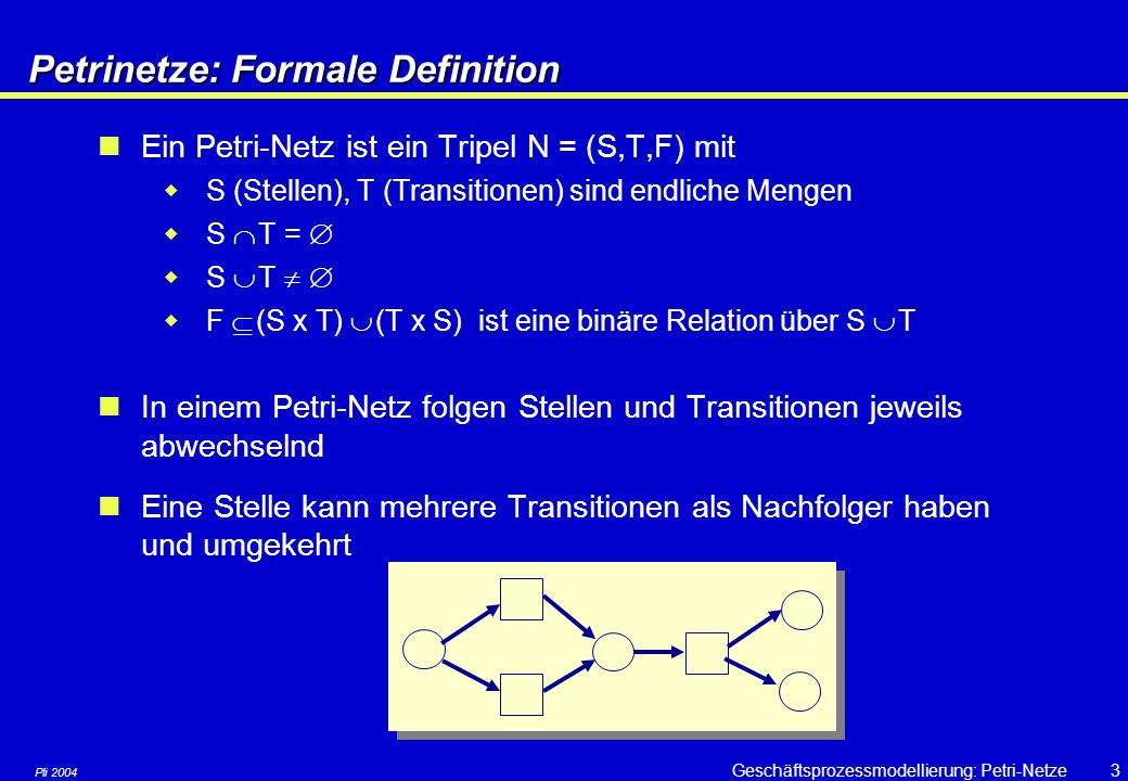 Petrinetze: Formale Definition