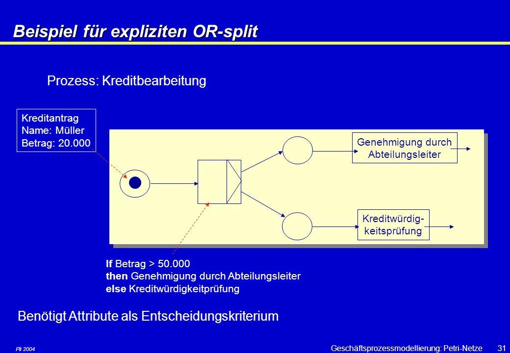 Beispiel für expliziten OR-split