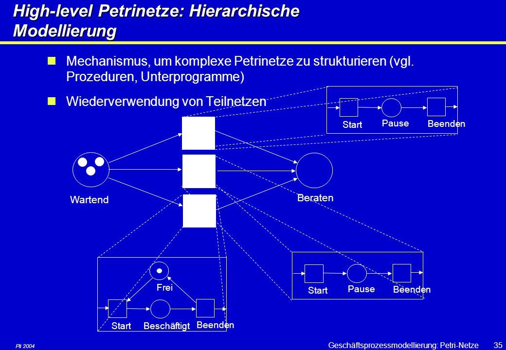 High-level Petrinetze: Hierarchische Modellierung