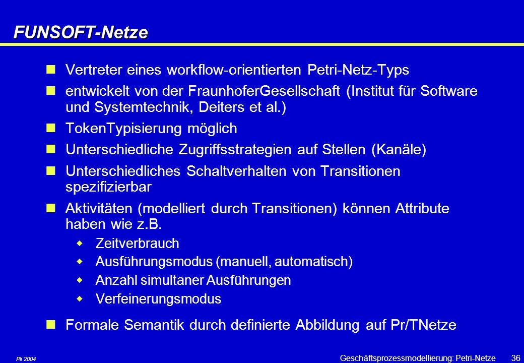 FUNSOFT-Netze Vertreter eines workflow-orientierten Petri-Netz-Typs