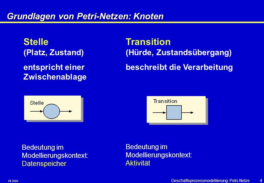Grundlagen von Petri-Netzen: Knoten