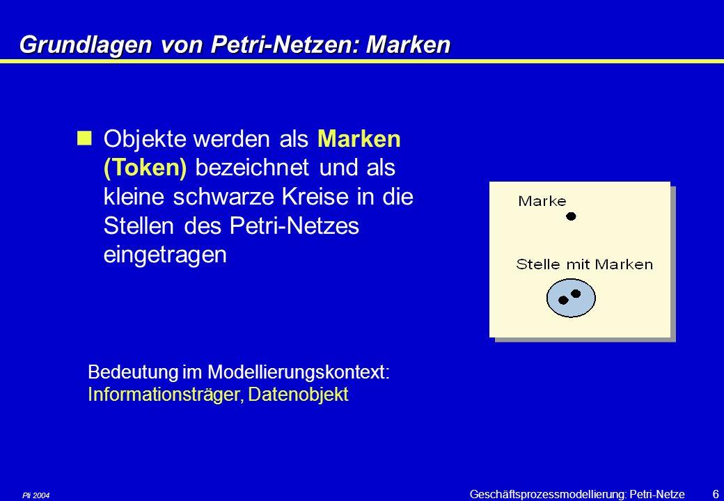 Grundlagen von Petri-Netzen: Marken