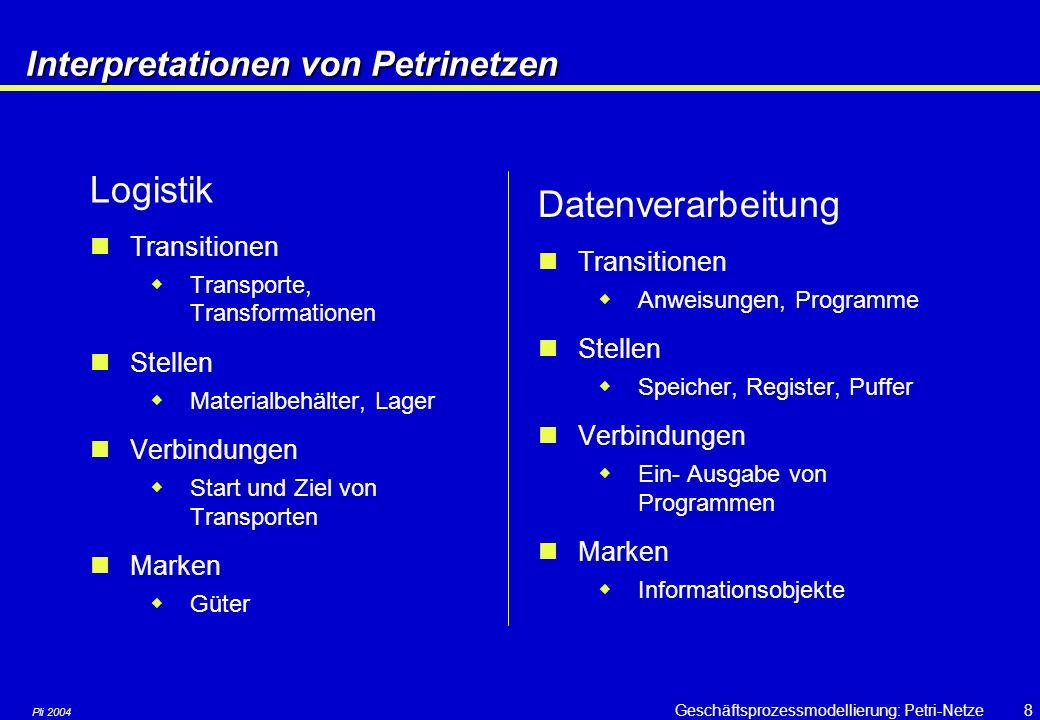 Interpretationen von Petrinetzen
