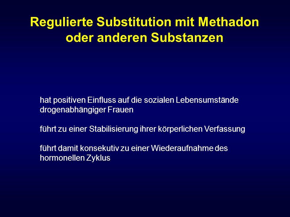 Regulierte Substitution mit Methadon oder anderen Substanzen