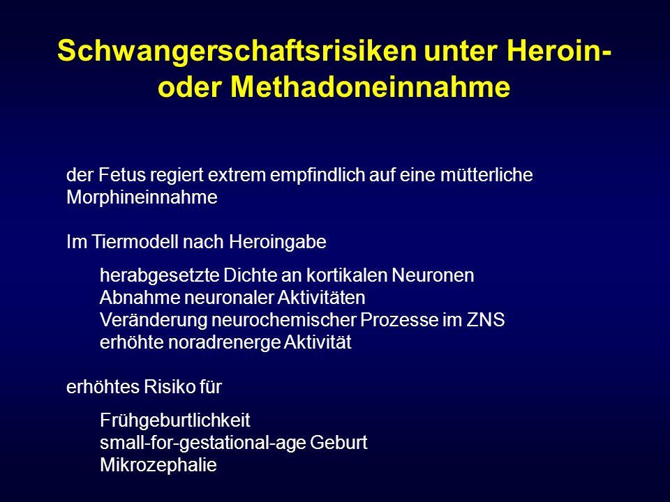 Schwangerschaftsrisiken unter Heroin- oder Methadoneinnahme