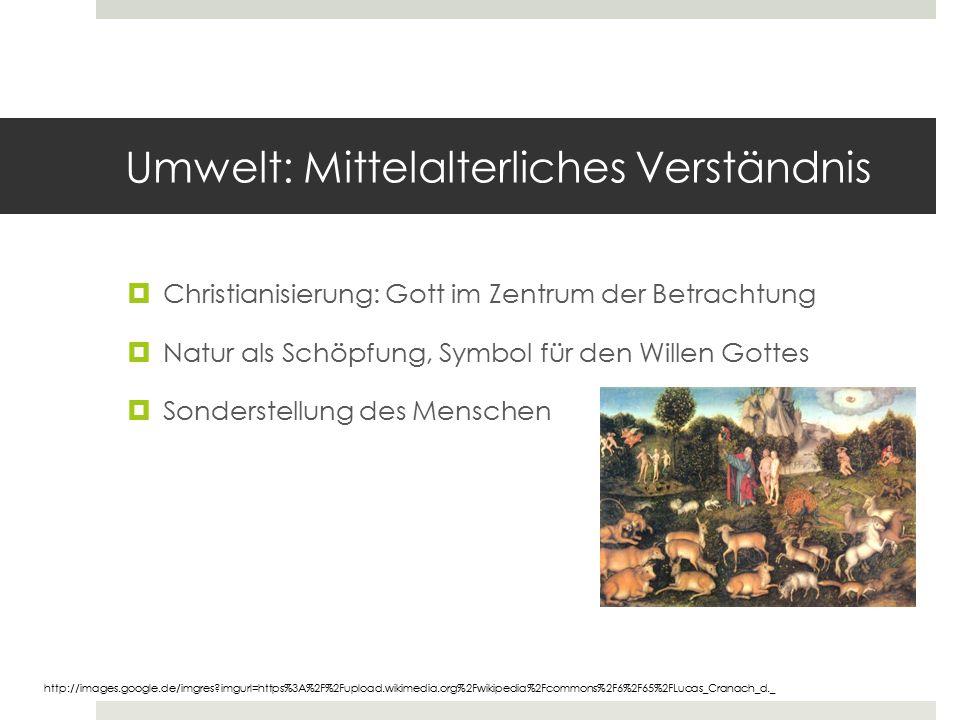 Umwelt: Mittelalterliches Verständnis