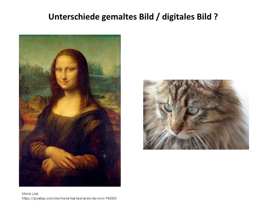 Unterschiede gemaltes Bild / digitales Bild