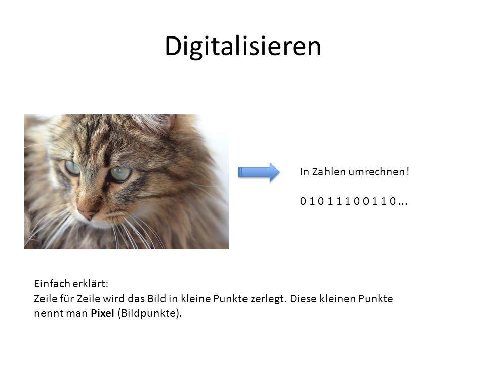 Digitalisieren In Zahlen umrechnen! 0 1 0 1 1 1 0 0 1 1 0 ...