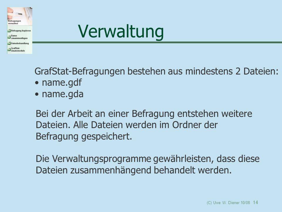 Verwaltung GrafStat-Befragungen bestehen aus mindestens 2 Dateien: