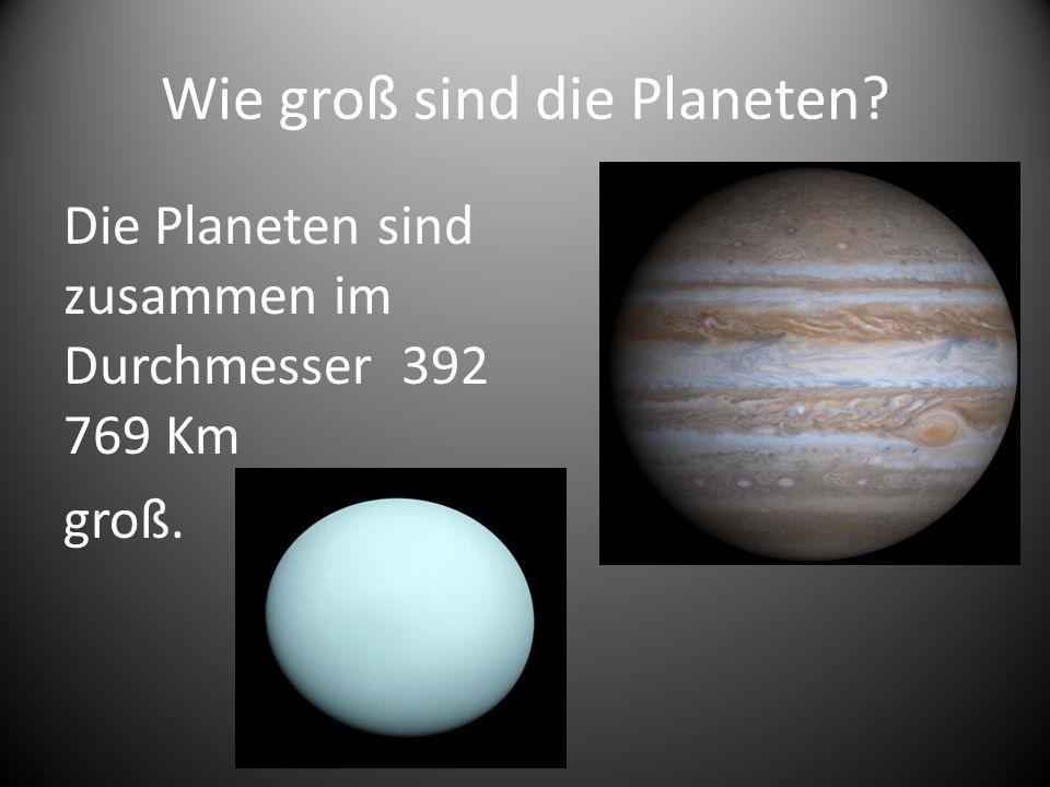 Wie groß sind die Planeten