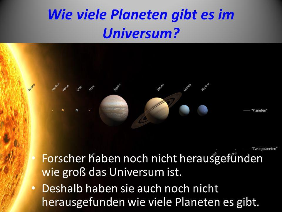 Wie viele Planeten gibt es im Universum