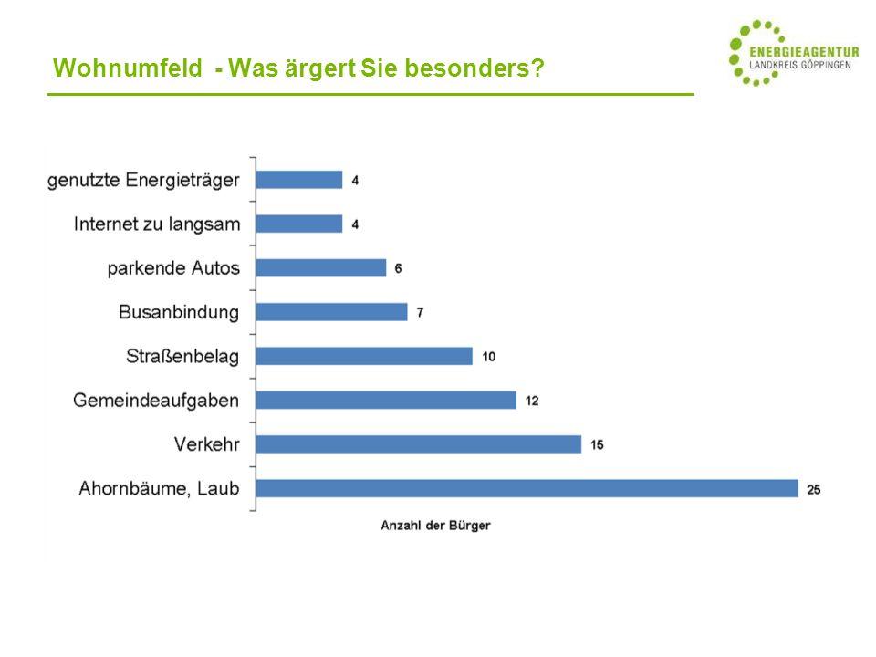 Wohnumfeld - Was ärgert Sie besonders