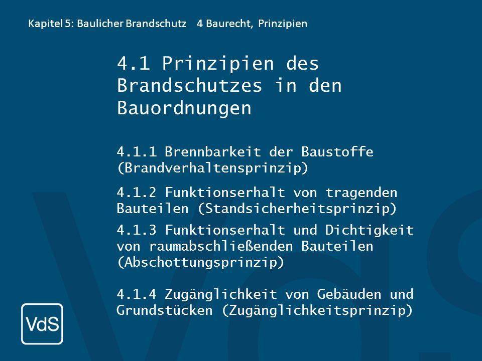 4.1 Prinzipien des Brandschutzes in den Bauordnungen