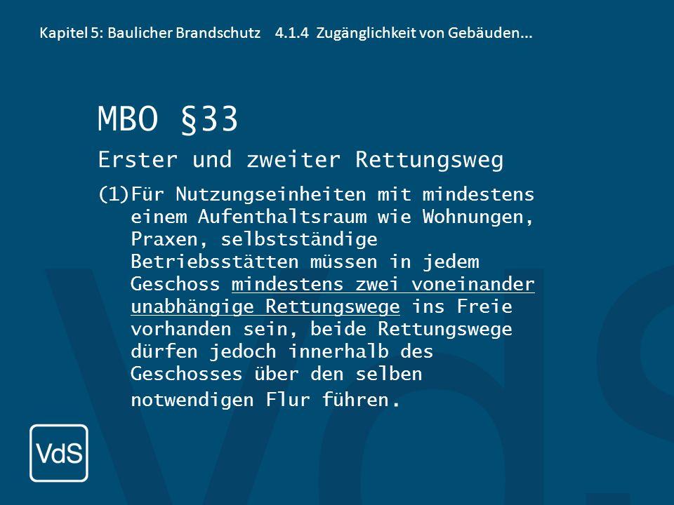 MBO §33 Erster und zweiter Rettungsweg
