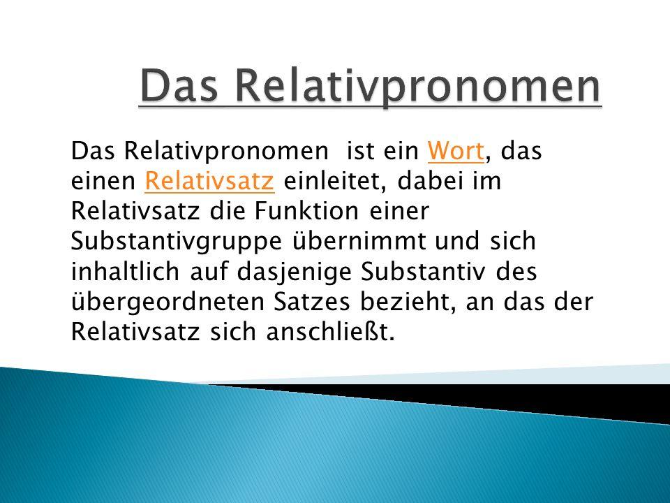 Das Relativpronomen