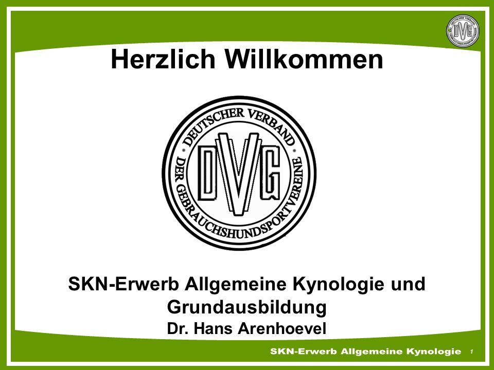 SKN-Erwerb Allgemeine Kynologie und Grundausbildung