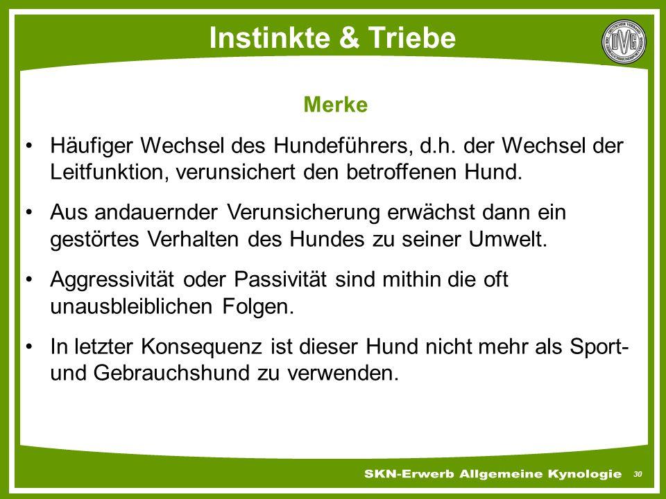 Instinkte & Triebe Merke