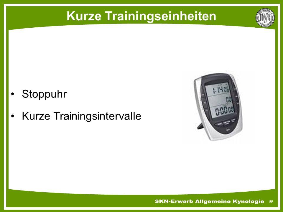 Kurze Trainingseinheiten