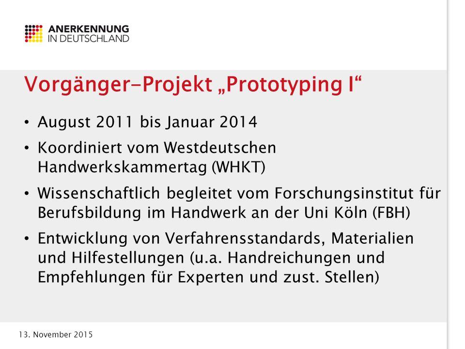 """Vorgänger-Projekt """"Prototyping I"""
