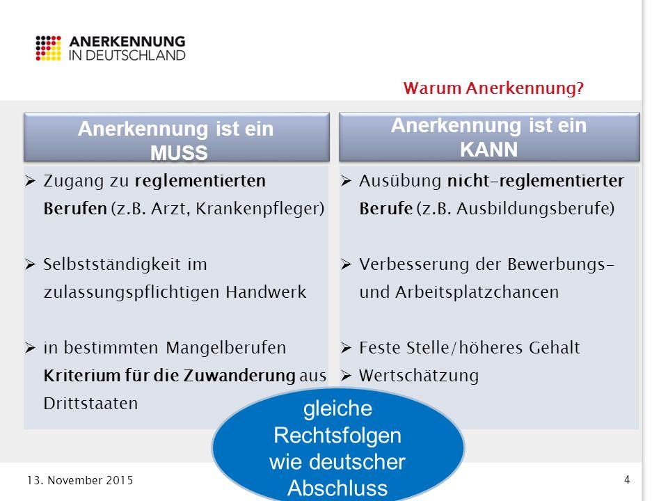 gleiche Rechtsfolgen wie deutscher Abschluss