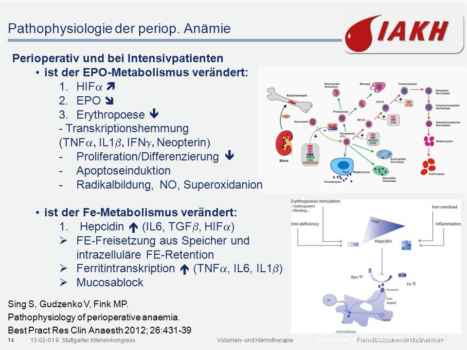 Therapie der Anämie Anämie bei chron. Erkrankung Latenter Eisenmangel
