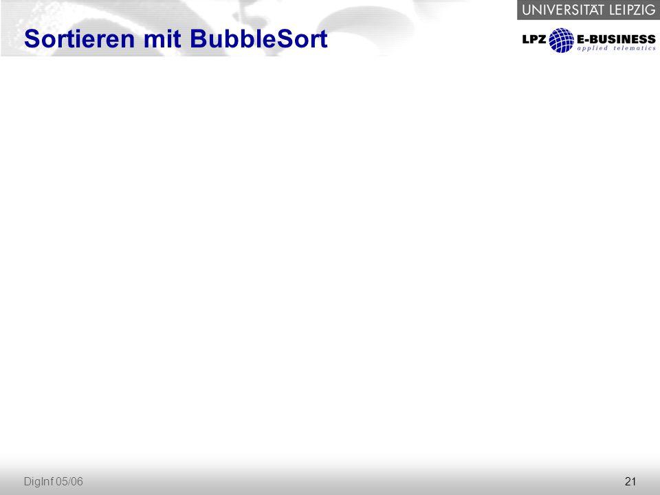Sortieren mit BubbleSort