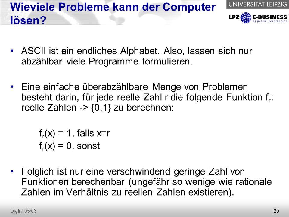 Wieviele Probleme kann der Computer lösen