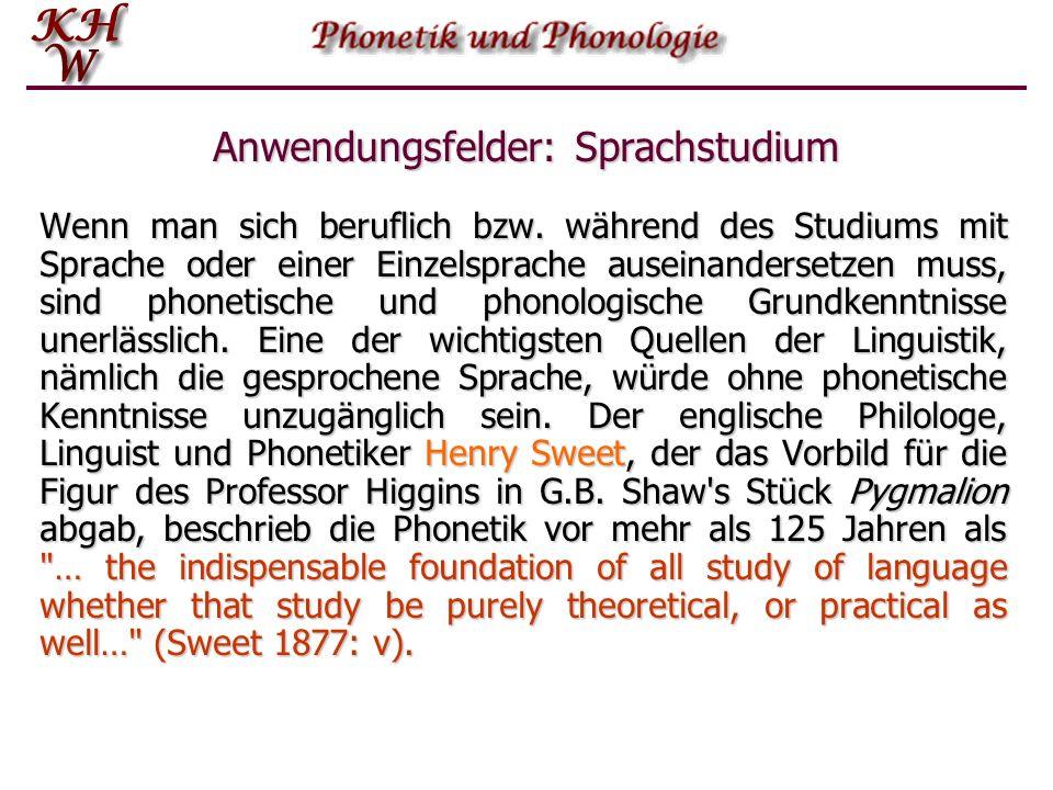 Anwendungsfelder: Sprachstudium