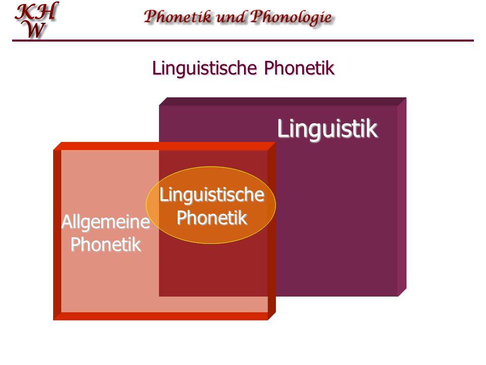 Linguistische Phonetik