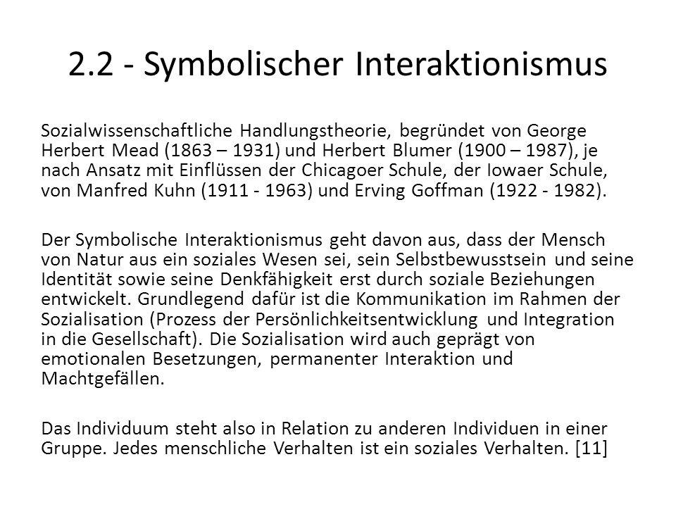 2.2 - Symbolischer Interaktionismus
