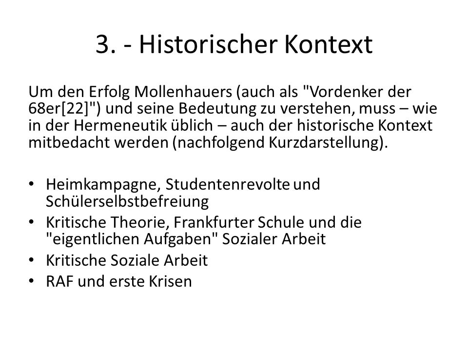 3. - Historischer Kontext