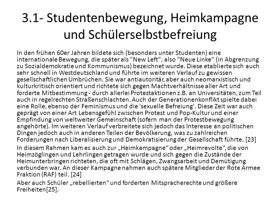 3.1- Studentenbewegung, Heimkampagne und Schülerselbstbefreiung