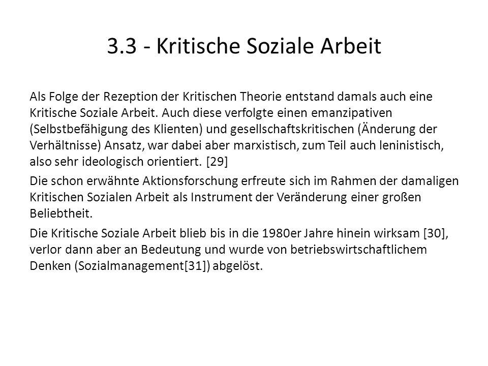 3.3 - Kritische Soziale Arbeit