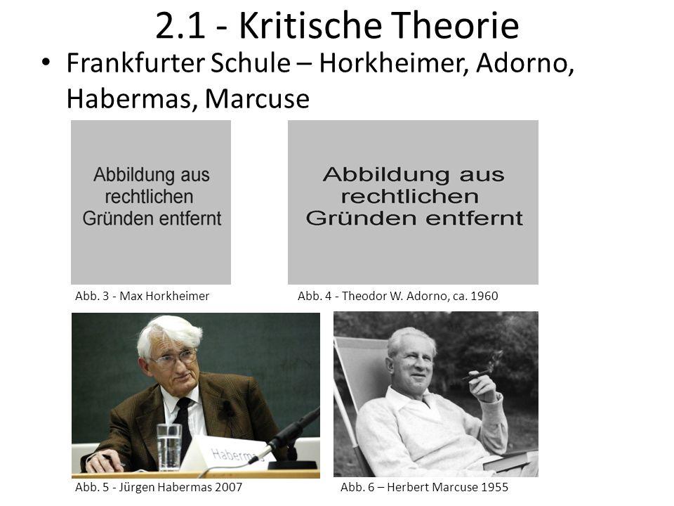 2.1 - Kritische Theorie Frankfurter Schule – Horkheimer, Adorno, Habermas, Marcuse. Abb. 3 - Max Horkheimer.