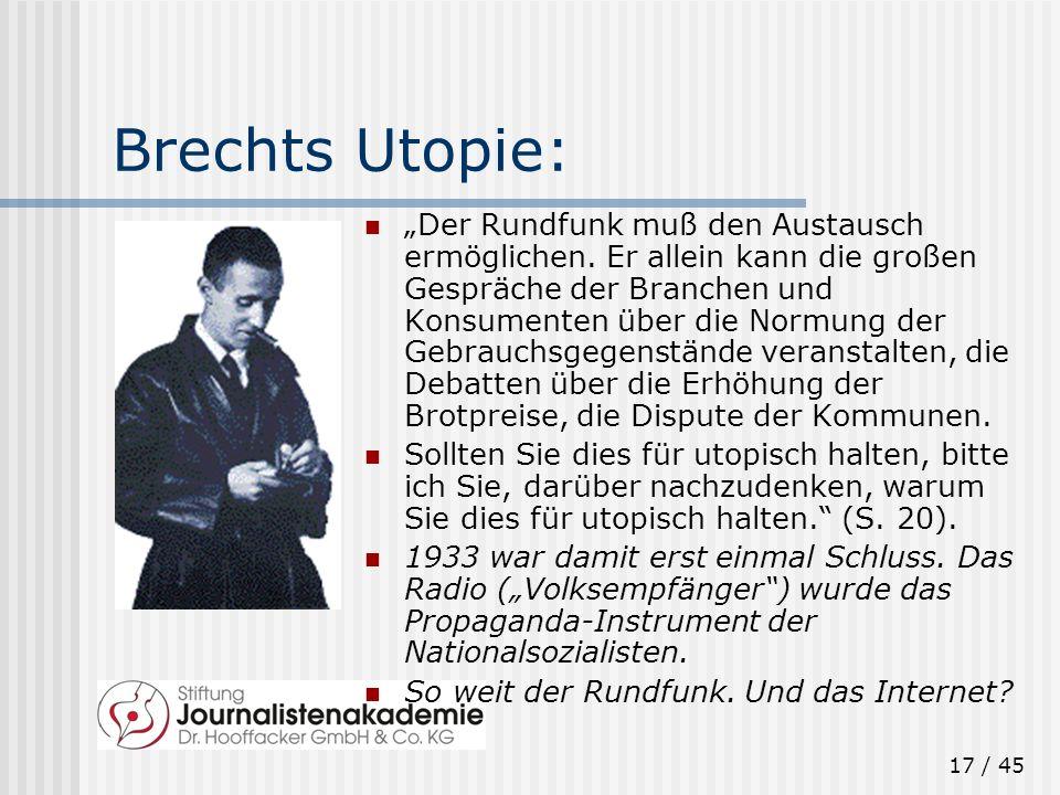 Brechts Utopie: