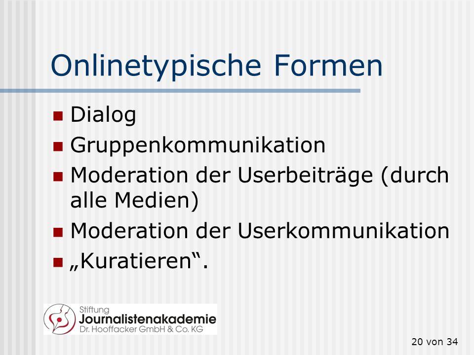 Onlinetypische Formen