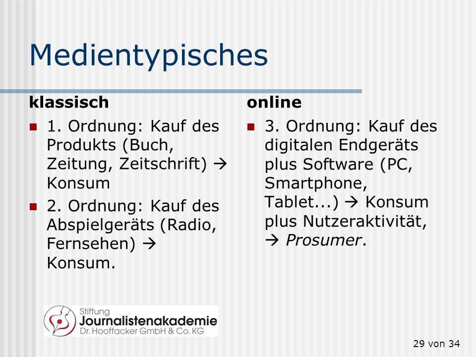 Medientypisches klassisch online