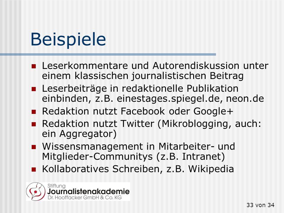 BeispieleLeserkommentare und Autorendiskussion unter einem klassischen journalistischen Beitrag.