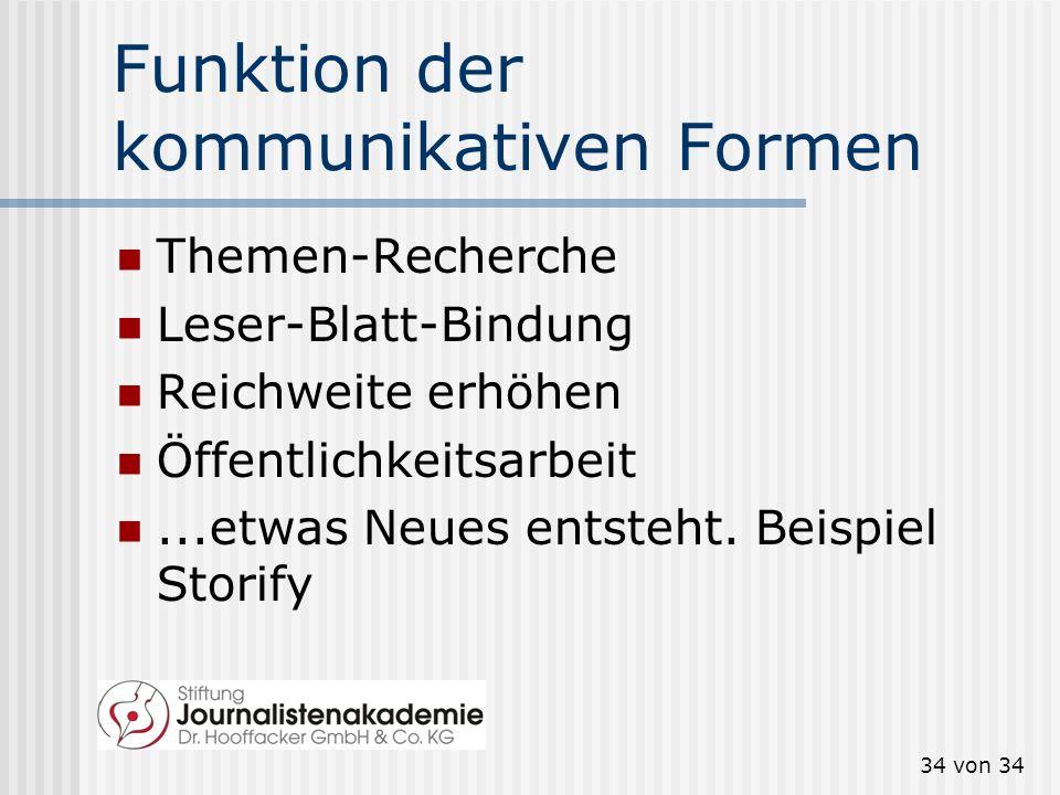 Funktion der kommunikativen Formen