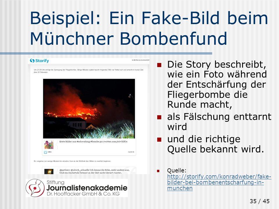 Beispiel: Ein Fake-Bild beim Münchner Bombenfund