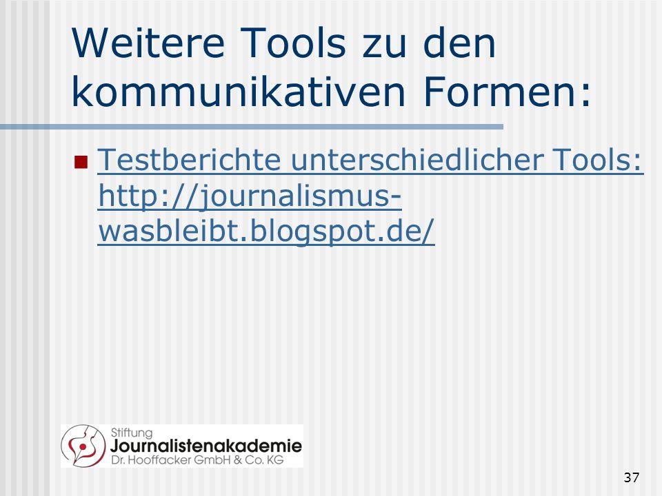 Weitere Tools zu den kommunikativen Formen:
