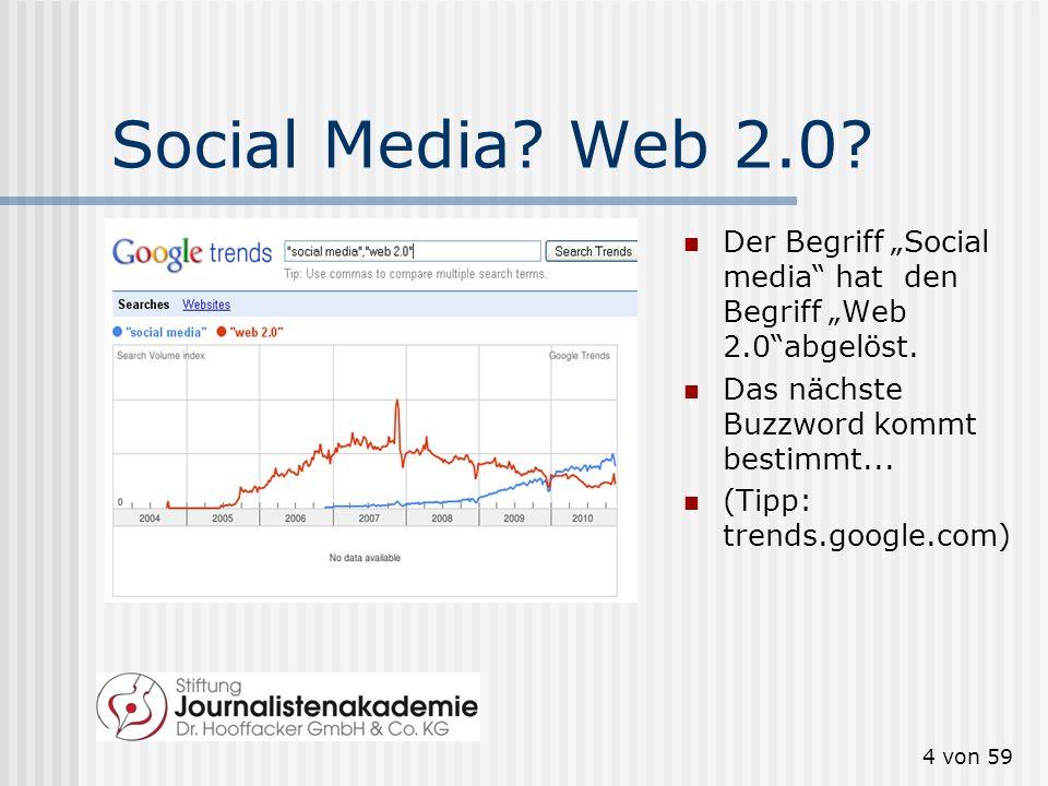"""Social Media Web 2.0 Der Begriff """"Social media hat den Begriff """"Web 2.0 abgelöst. Das nächste Buzzword kommt bestimmt..."""