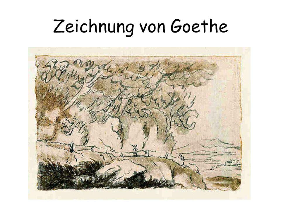 Zeichnung von Goethe A drawing from Goethe