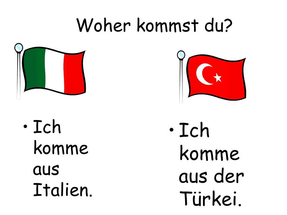 Ich komme aus der Türkei.