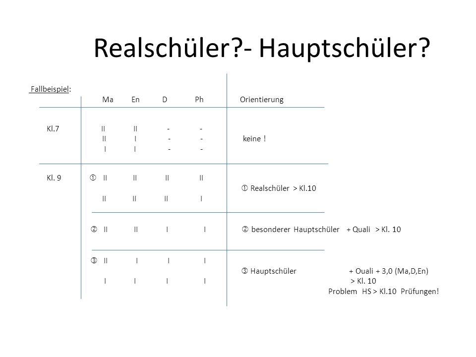 Realschüler - Hauptschüler