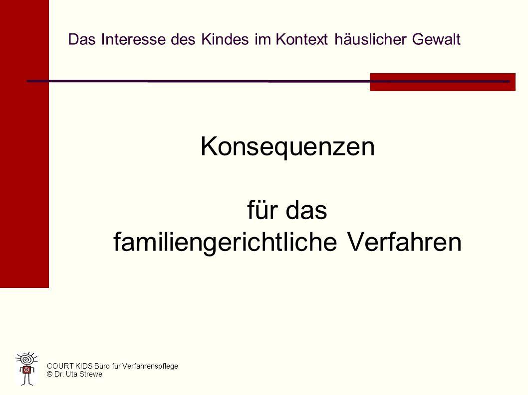 Das Interesse des Kindes im Kontext häuslicher Gewalt